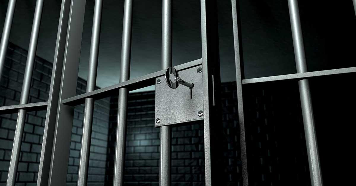 Prison bar with keys